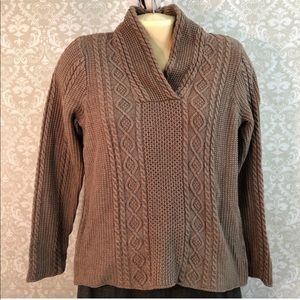 Jeanne Pierre Taupe Sweater (Small)